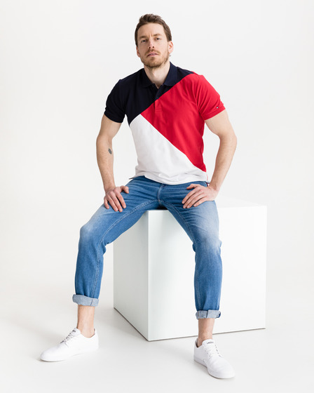 Tommy Hilfiger Diagonal Colorblock Polo Koszulka